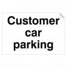 Customer Car Parking 240 x 360mm Sticker