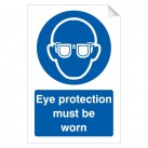 Eye Protection Must Be Worn 240 x 360mm Sticker