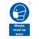 Masks Must Be Worn 240 x 360mm Sticker