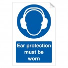 Ear Protection Must Be Worn 240 x 360mm Sticker