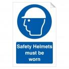 Safety Helmets Must Be Worn 240 x 360mm Sticker