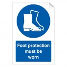 Foot Protection Must Be Worn 240 x 360mm Sticker