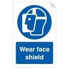 Wear Face Shield 240 x 360mm Sticker
