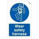 Wear Safety Harness 240 x 360mm Sticker