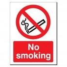 No Smoking 480 x 350mm Sign
