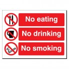 No Eating/Drinking/Smoking 480 x 350mm Sign