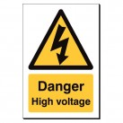 Danger High Voltage 240 x 360mm Sign