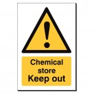 Chemical Store Keep Out 240 x 360mm Sign