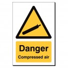 Danger Compressed Air 240 x 360mm Sign