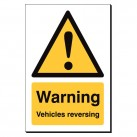 Warning Vehicles Reversing 240 x 360mm Sign