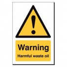 Warning Harmful Waste Oil 240 x 360mm Sign