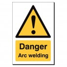 Warning Arc Welding 240 x 360mm Sign