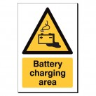 Battery Charging Area 240 x 360mm Sign