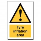 Tyre Inflation Area 240 x 360mm Sign