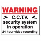 Warning CCTV Security System 480 x 350mm Sign