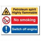 Petroleum spirit highly flammable480 x 3