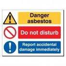 Danger Asbestos 480 x 350mm Sign