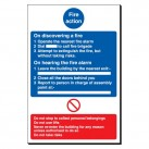 Fire Action 240 x 360mm Sign