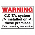 Warning CCTV In Operation 240 x 360mm Sign