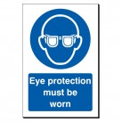 Eye Protection Must Be Worn 240 x 360mm Sign