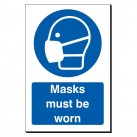 Masks Must Be Worn 240 x 360mm Sign