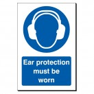 Ear Protection Must Be Worn 240 x 360mm Sign