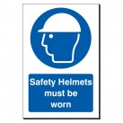 Safety Helmets Must Be Worn 240 x 360mm Sign