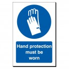 Hand Protection Must Be Worn 240 x 360mm Sign
