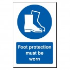 Foot Protection Must Be Worn 240 x 360mm Sign