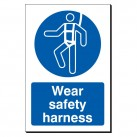 Wear Safety Harness 240 x 360mm Sign
