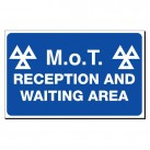 MOT Waiting Area 300 x 480mm Sign
