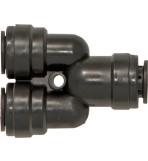 THE WORKSHOP WAREHOUSE Quick-Fit Tube Couplings - Two Way Dividers, Metric